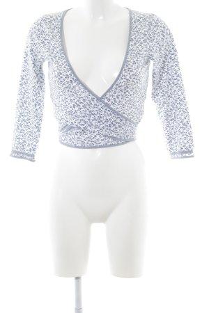 Expresso Cardigan weiß-graublau Casual-Look