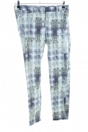 Expresso Chinohose abstraktes Muster Casual-Look