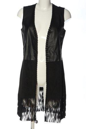 Expresso Veste à franges noir style décontracté