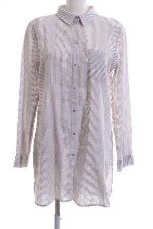 Expresso Hemd-Bluse wollweiß-braun Streifenmuster Casual-Look