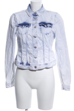 Expresso Jeansjacke weiß-blau Casual-Look