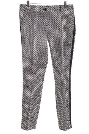 Expresso Karottenhose schwarz-weiß Allover-Druck Casual-Look