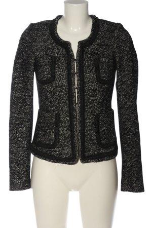 Expresso Korte blazer zwart-lichtgrijs gestippeld casual uitstraling