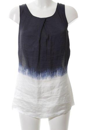 Expresso Kurzarm-Bluse weiß-blau Farbverlauf Casual-Look