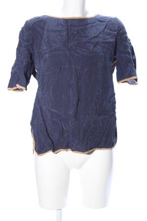 Expresso Kurzarm-Bluse blau-nude Business-Look