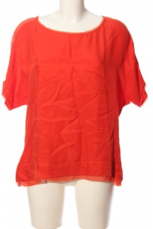Expresso Kurzarm-Bluse rot Casual-Look