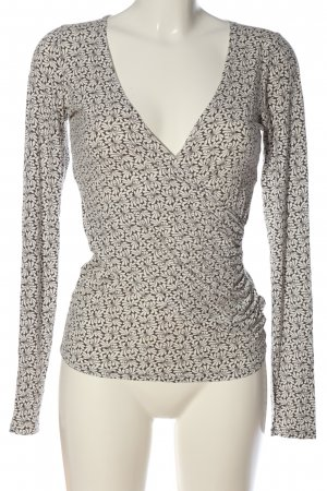 Expresso Langarm-Bluse braun-wollweiß abstraktes Muster Casual-Look