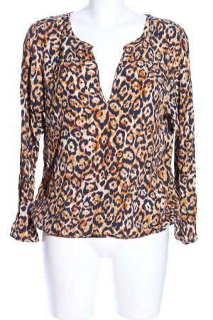 Expresso Langarm-Bluse Allover-Druck Casual-Look