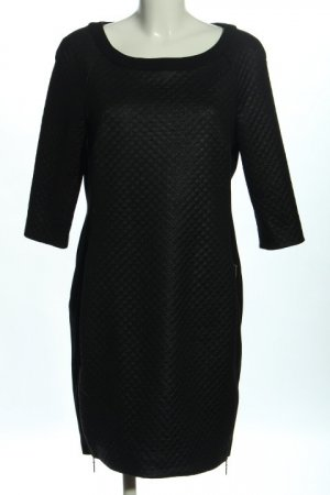 Expresso Bleistiftkleid schwarz Steppmuster Business-Look