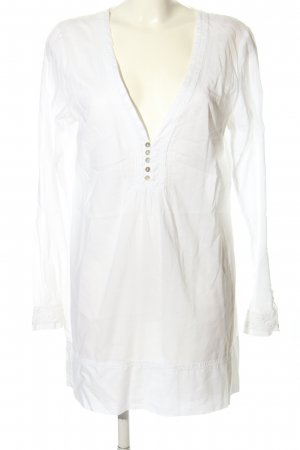 Expresso Long-Bluse weiß Casual-Look