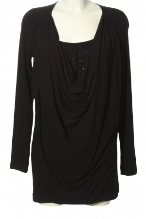 Expresso Long-Bluse schwarz Casual-Look