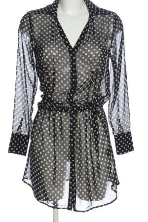 Expresso Minikleid schwarz-weiß Punktemuster Casual-Look