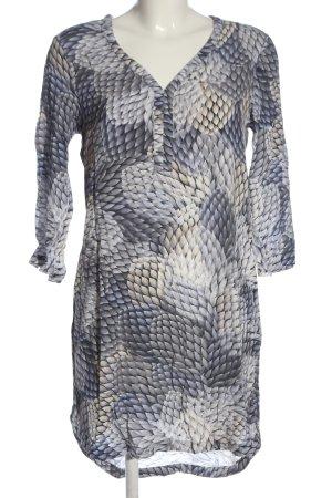 Expresso Minikleid blau abstraktes Muster Casual-Look