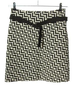 Expresso Mini rok wit-zwart volledige print casual uitstraling