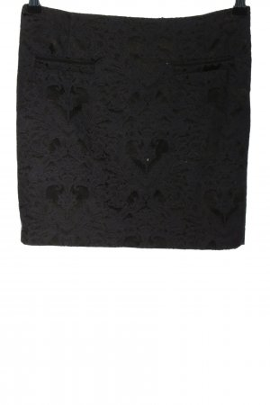 Expresso Mini rok zwart volledige print zakelijke stijl