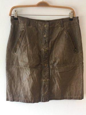 Expresso Falda de cuero de imitación marrón
