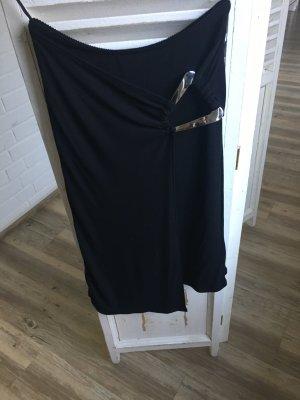 Expresso Falda cruzada negro-color plata