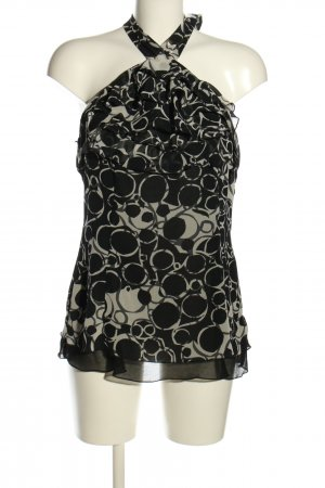 Expresso Frill Top black-light grey allover print casual look