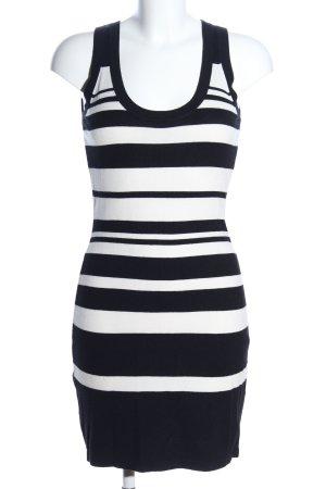 Expresso Schlauchkleid schwarz-weiß Streifenmuster Casual-Look