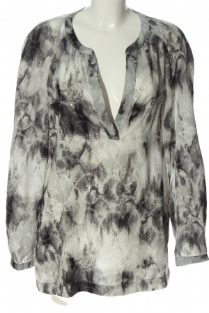 Expresso Blouse à enfiler gris clair motif abstrait style décontracté