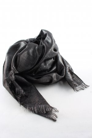 Expresso Sommerschal schwarz-silberfarben meliert Casual-Look