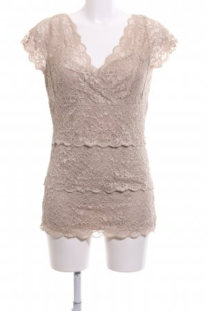 Expresso Spitzenbluse nude Casual-Look