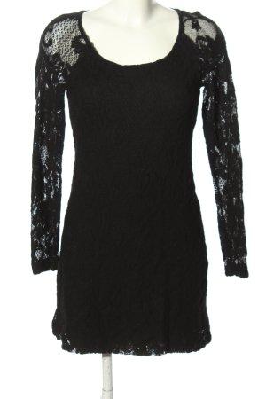 Expresso Spitzenkleid schwarz Blumenmuster Casual-Look