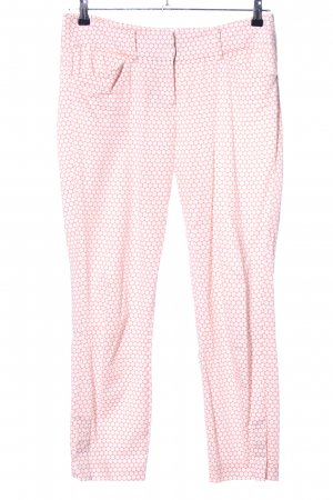 Expresso Stoffhose pink-weiß Allover-Druck Casual-Look