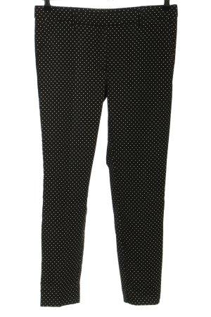 Expresso Stoffhose schwarz-weiß Punktemuster Casual-Look