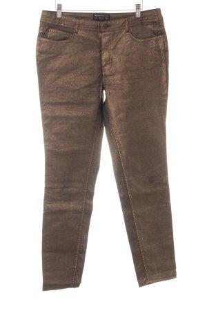 Expresso Straight-Leg Jeans bronzefarben Glitzer-Optik