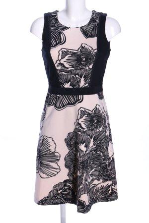 Expresso Stretchkleid wollweiß-schwarz Blumenmuster Casual-Look