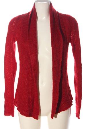 Expresso Cardigan in maglia rosso stile casual