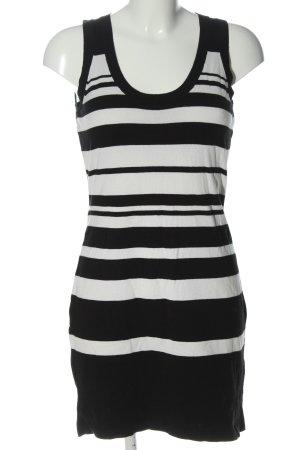 Expresso Strickkleid schwarz-weiß Streifenmuster Casual-Look