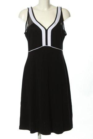 Expresso Trägerkleid schwarz-weiß Streifenmuster Casual-Look
