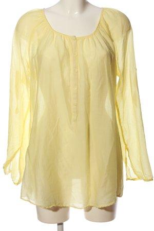 Expresso Transparenz-Bluse blassgelb Casual-Look