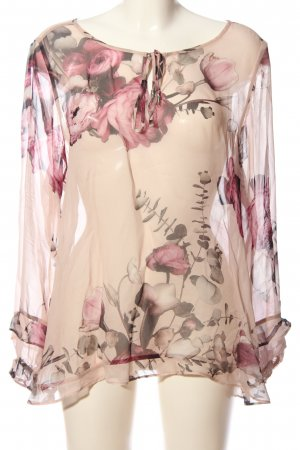 Expresso Transparenz-Bluse Allover-Druck Casual-Look