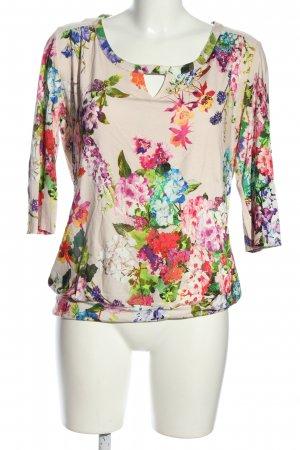 Expresso U-Boot-Shirt Blumenmuster Casual-Look