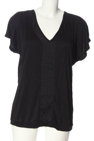 Expresso V-Ausschnitt-Shirt schwarz Casual-Look
