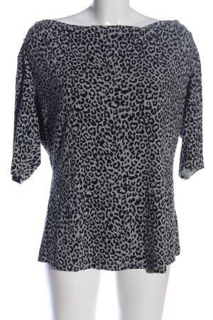 Expresso Waterval shirt zwart-lichtgrijs volledige print casual uitstraling