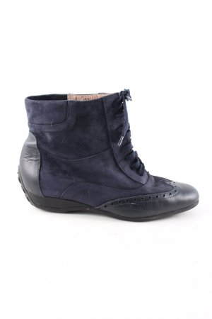 Exquisit by S.v.B. Schnürstiefel blau-schwarz Casual-Look