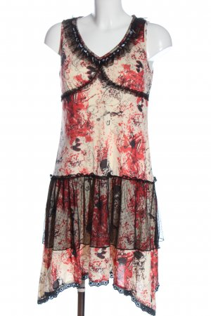 Exquiss's Vestido de tela de jersey estampado con diseño abstracto