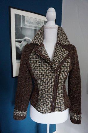 Exquisse'S Biker Jacket brown polyester