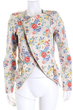 Extenzo Paris Kurzjacke Blumenmuster Casual-Look