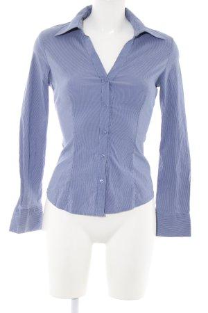 extra me Hemd-Bluse blau-weiß Streifenmuster Business-Look