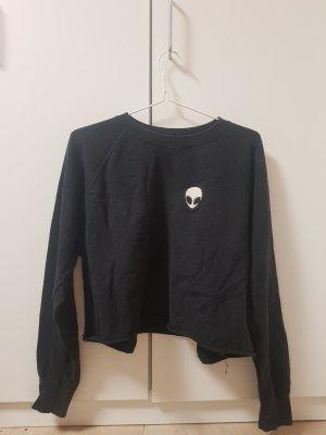 Extraterraler Crop Sweater
