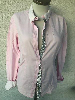 Blue Fire Camicetta a maniche lunghe rosa chiaro-argento