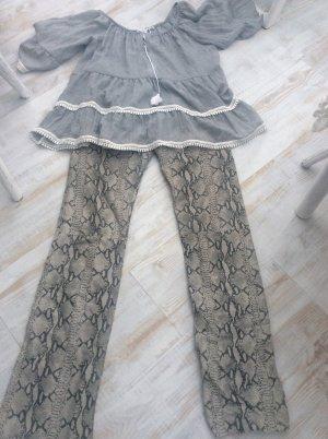 Clothes Pantalone in pelle argento-grigio scuro
