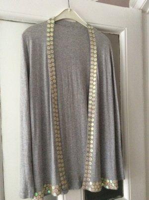 Chaqueta estilo camisa gris claro Algodón