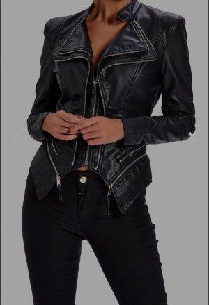 Forever Unique Faux Leather Jacket black