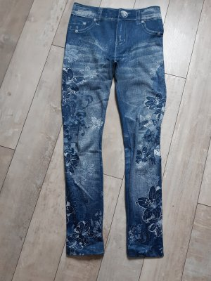 elle nor Legging bleu tissu mixte